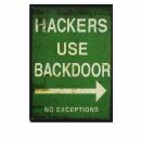 Postkarte - Hackers use Backdoor - Henri Banks