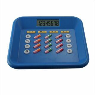 Taschenrechner - Pillen - blau