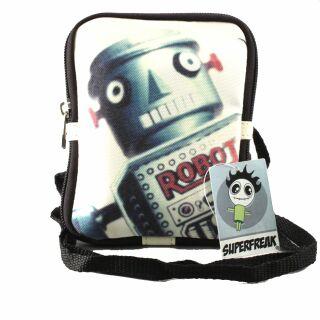 Umhängetasche - Geldbörse  -  Roboter  -  Schultertasche