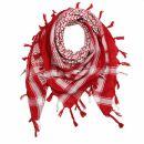 Kufiya - Keffiyeh - rojo - blanco - Pañuelo de Arafat