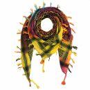 Kufiya - Tie dye-Batik-multicolored - black 01 - Shemagh...