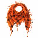 Kufiya - Keffiyeh - Calaveras con sable naranja - negro -...