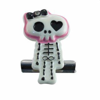 Klammerhalter - Clip - Skelett - schwarz