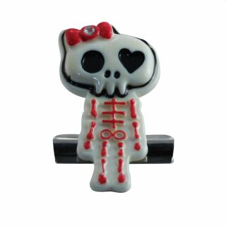 Klammerhalter - Clip - Skelett - rot