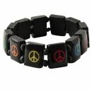 Holzarmband - Peace - schwarz 2