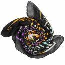 Cotton Scarf - Celtic Tribal black - tie dye 01 - squared...