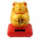 Lucky cat mouse - Maneki Neko - Waving cat - solar - 10,5...