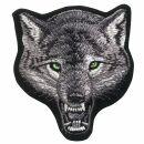 Aufnäher - Wolf - Wolfsgesicht grüne Augen - Patch