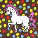 Patch - Unicorn - white-pink