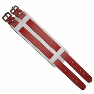 Brazalete cuero 2-tiras - rojo 2