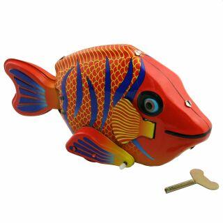 Giocattolo di latta - Giocattolo depoca - pesce colorato - pesce felice - Giocattolo depoca