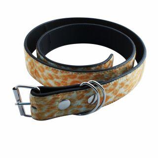 Gürtel Leopardenfell - orange - Leo Muster