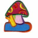 Aufnäher - Pilz - Fliegenpilz crazy colors - Patch