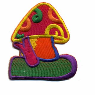 Patch - Mushroom - Fly agaric weird colors