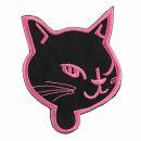 Patch - Cats Head - black-rose