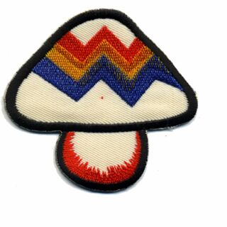 Patch - Mushroom - Fly agaric blue-yellow-red