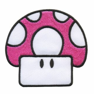 Patch - Mushroom - Fly Agaric Toad pink