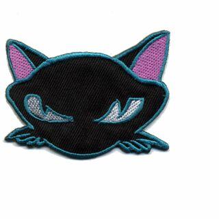 Parche - Cabeza Gata - negro-lila-azul