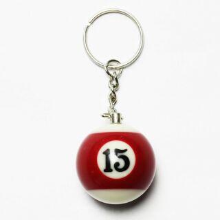 Colgante de llave - Bola de billar 15