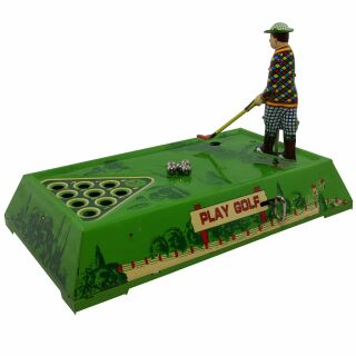 Blechspielzeug - Golf - Golfspiel aus Blech