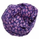 Sciarpa di cotone - cuori - viola - foulard quadrato