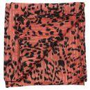 Pañuelo de algodón - Leopardo 1 rojo - plata - Pañuelo cuadrado para el cuello