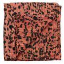 Sciarpa di cotone - leopardo 1 rosso - oro - foulard quadrato