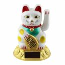 Agitando gato chino - Maneki neko - solar base oval -...