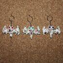 Tier-Anhänger mit Knopfaugen - Fledermaus 09 -...