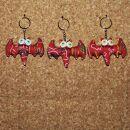 Tier-Anhänger mit Knopfaugen - Fledermaus 12 -...
