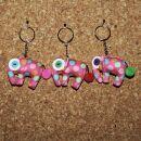 Tier-Anhänger mit Knopfaugen - Elefant 05 -...