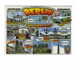 Postkarte - Berlin - Ick liebe dir