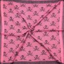 Palituch - Totenköpfe mit Säbel pink - schwarz - Kufiya PLO Tuch