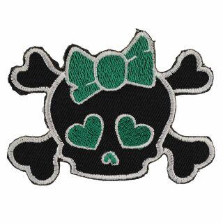 Parche - Cabeza con lazo - negro-verde