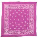 Bandana Tuch - Paisley Muster 01 - pink - weiß -...