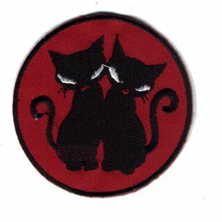 Patch - duo nero gatto - nero-rosso - toppa
