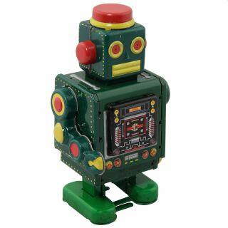 Roboter - Green Robot - grüner Blechroboter