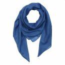 Cotton Scarf - blue - ultramarine blue - squared kerchief