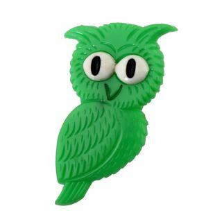 Pin - Owl - green - Badge