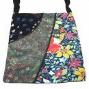 Cloth bag - Three different Floral Designs - black,...