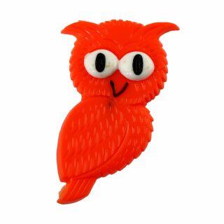 Pin - Owl - orange - Badge