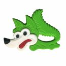 Spilla - volpe - verde - fermaglio DDR