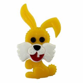 Spilla - coniglietto - giallo - fermaglio DDR
