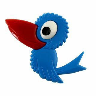 Spilla - uccello - blu - fermaglio DDR