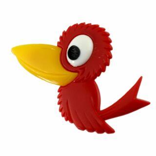 Spilla - uccello - rosso - fermaglio DDR