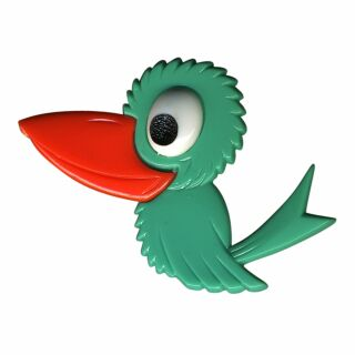 Pin - Bird - turquoise - Badge
