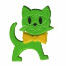 Pin - Cat - green-yellow
