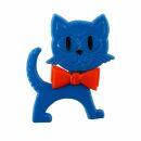 Broche - Gato - azul-naranja - Pin