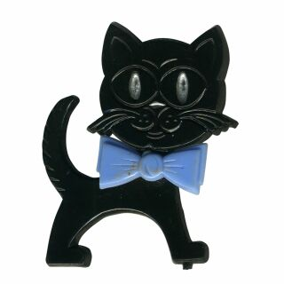 Pin - Cat - black-blue - Badge
