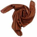 Cotton Scarf - brown Lurex silver - squared kerchief